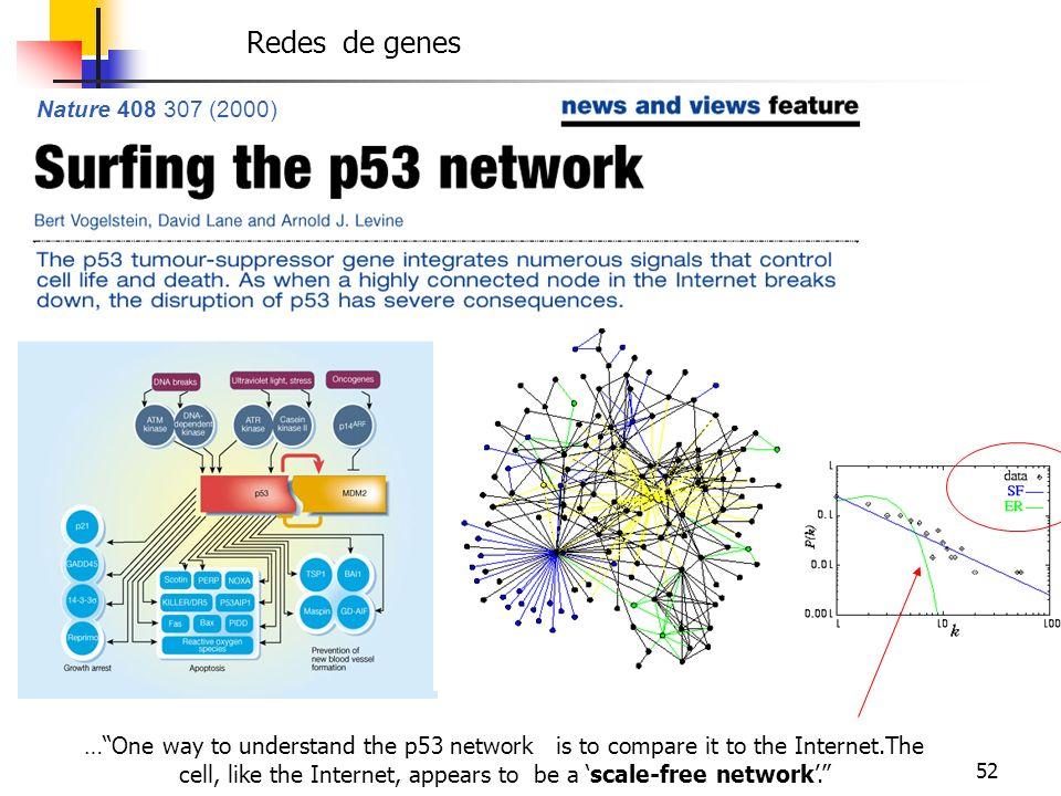P53 Redes de genes Nature 408 307 (2000)