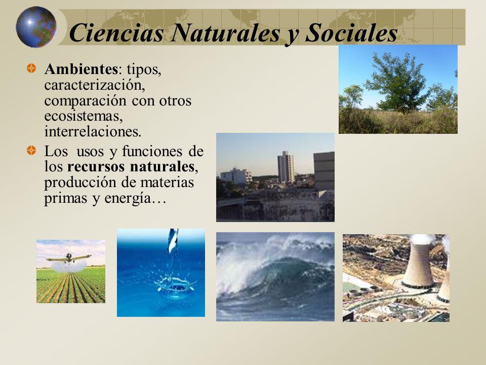 Ciencias Naturales y Sociales