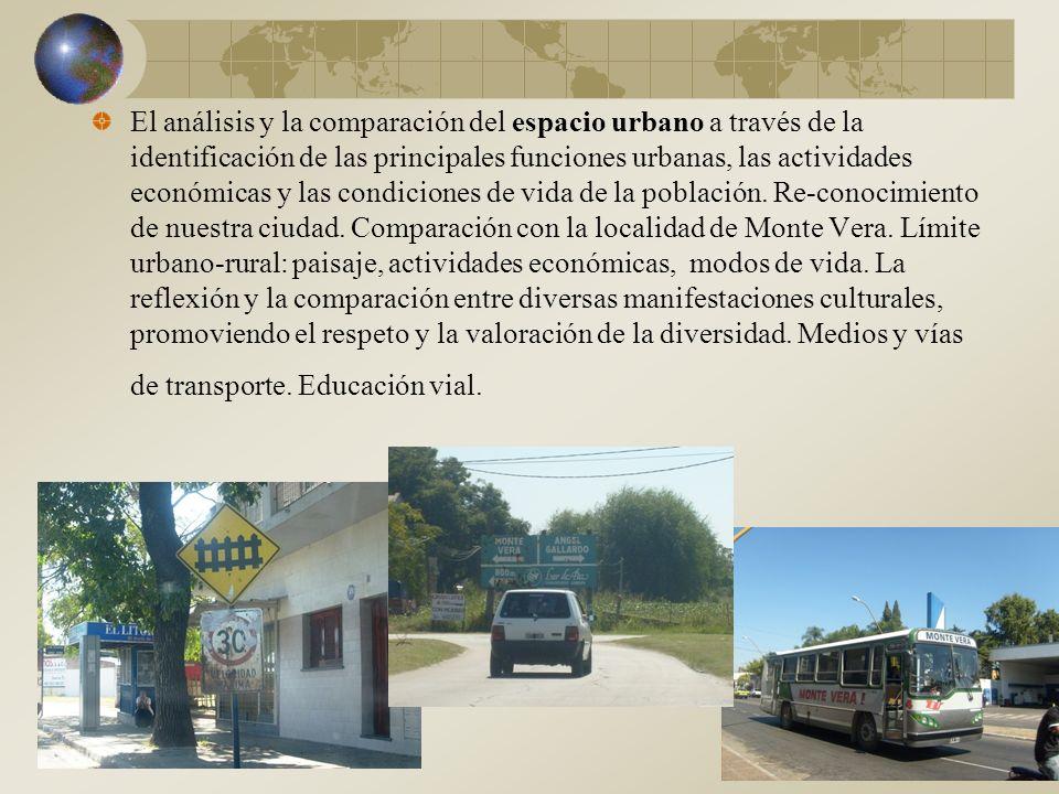 El análisis y la comparación del espacio urbano a través de la identificación de las principales funciones urbanas, las actividades económicas y las condiciones de vida de la población.