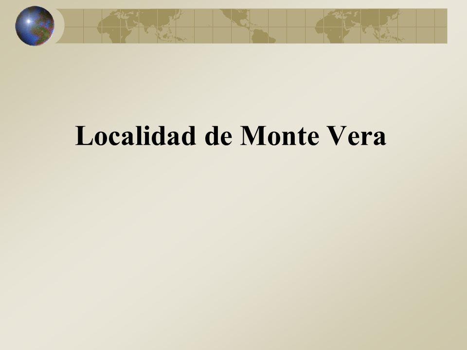 Localidad de Monte Vera