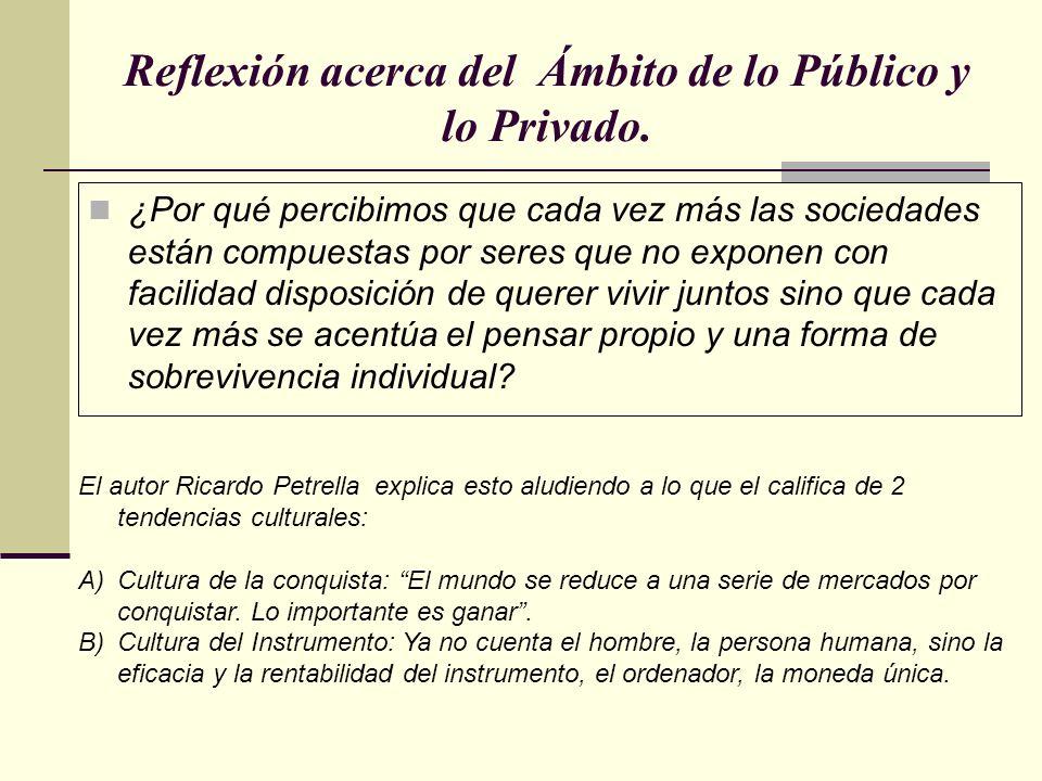 Reflexión acerca del Ámbito de lo Público y lo Privado.
