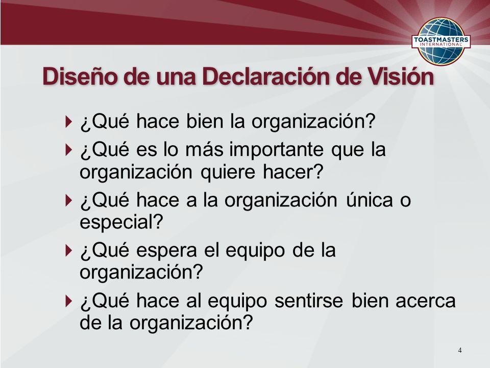 Diseño de una Declaración de Visión
