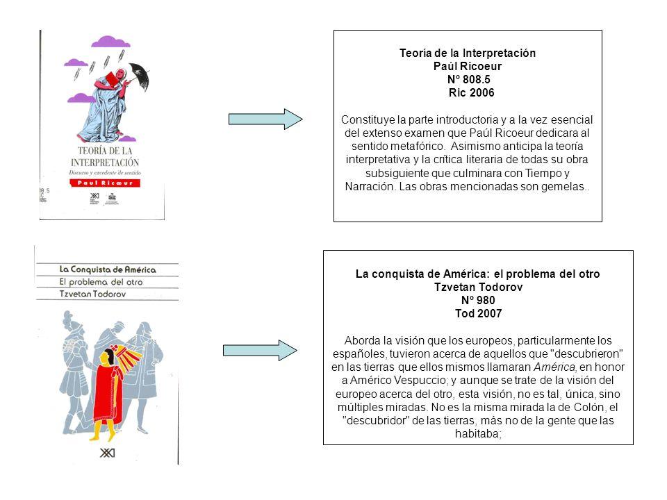 Teoría de la Interpretación Paúl Ricoeur Nº 808.5 Ric 2006
