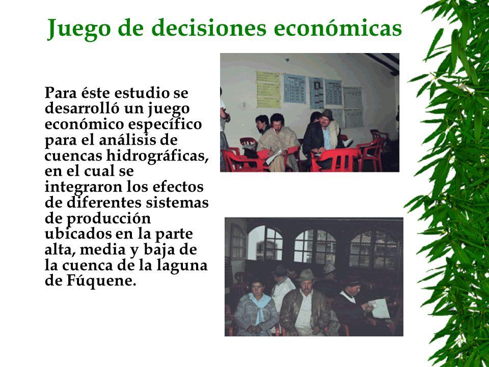 Juego de decisiones económicas