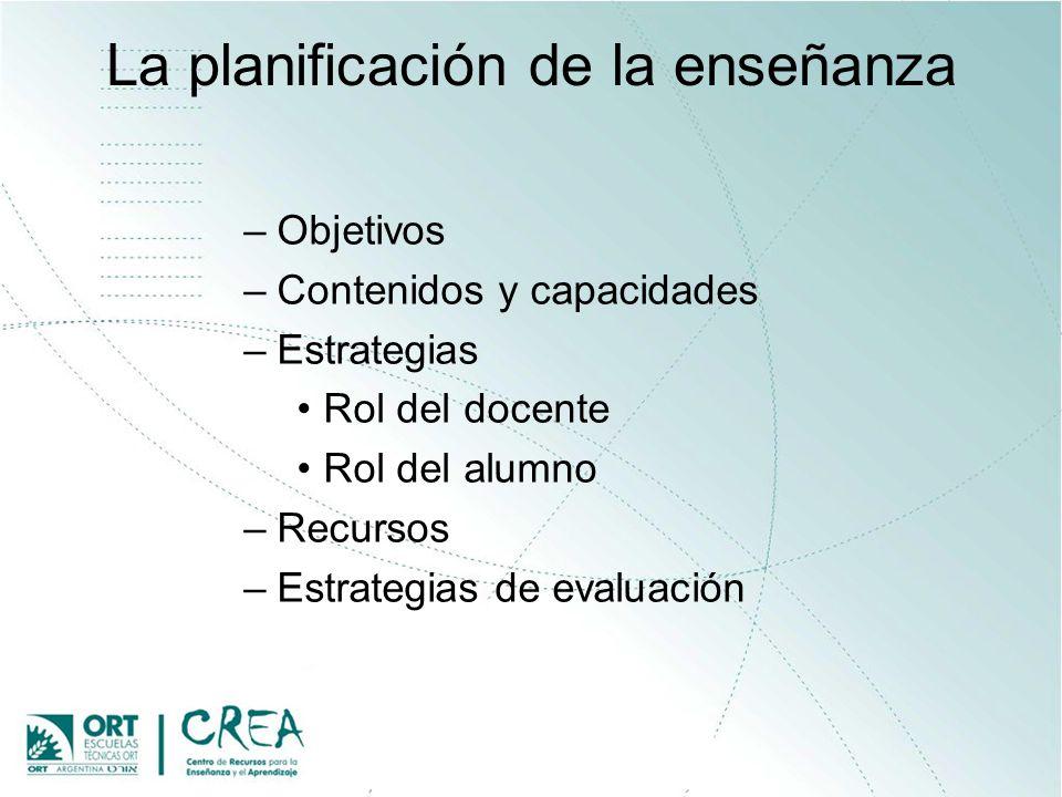 La planificación de la enseñanza