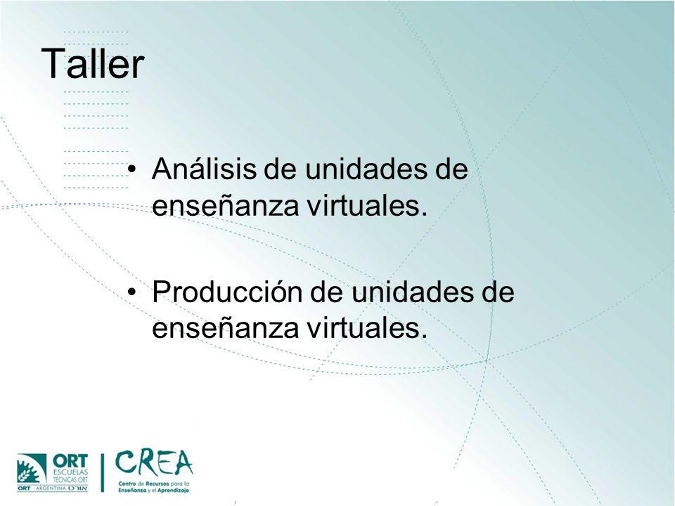Taller Análisis de unidades de enseñanza virtuales.
