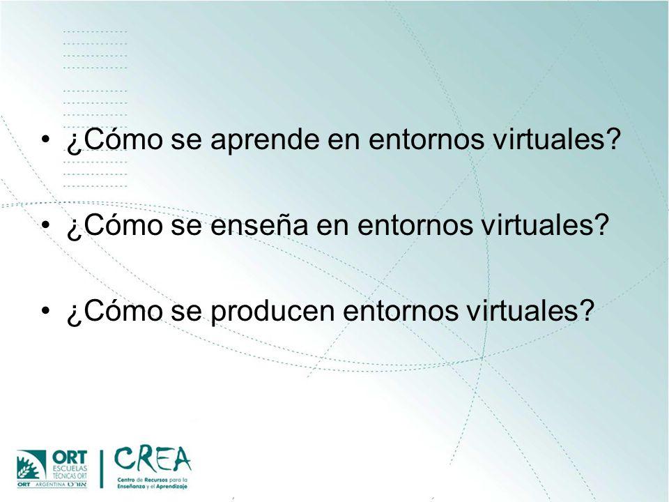 ¿Cómo se aprende en entornos virtuales