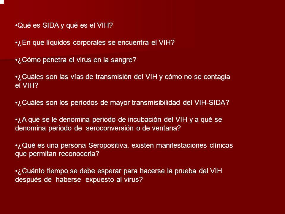 Qué es SIDA y qué es el VIH