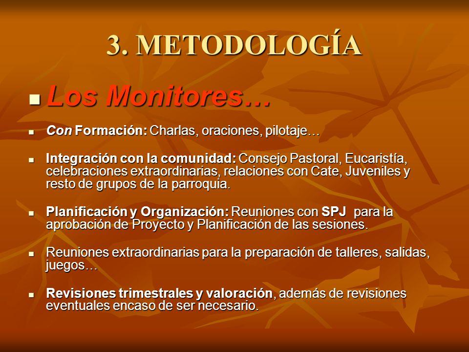3. METODOLOGÍA Los Monitores…