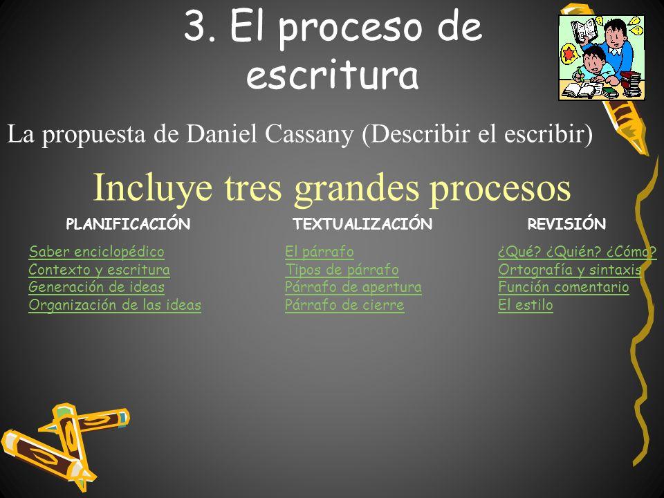 3. El proceso de escritura