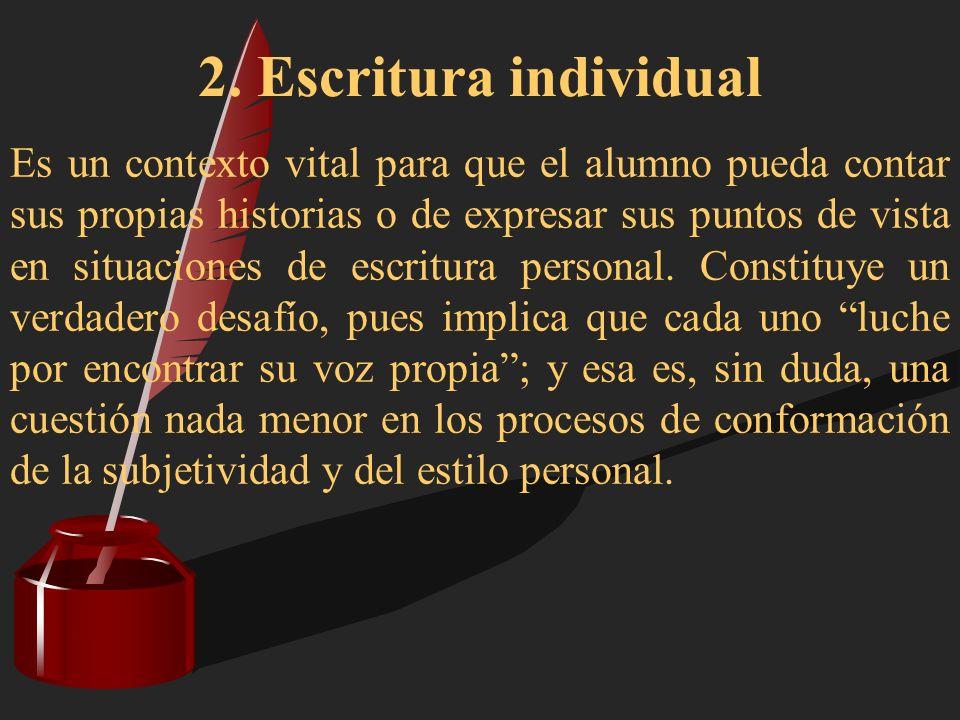 2. Escritura individual