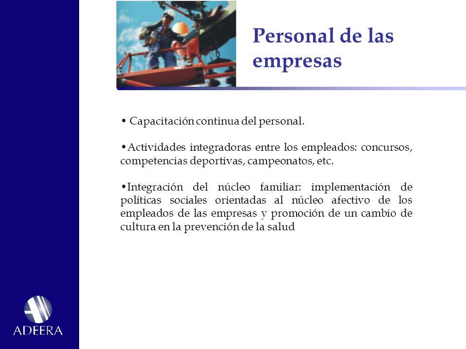 Personal de las empresas