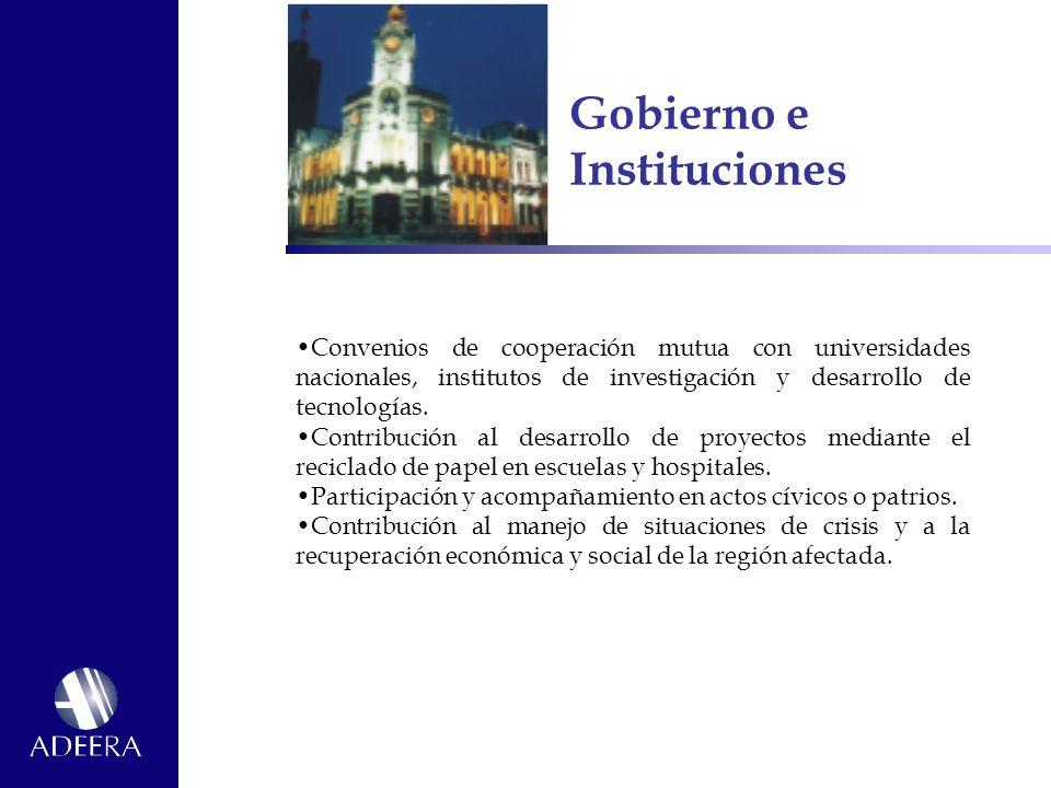 Gobierno e Instituciones