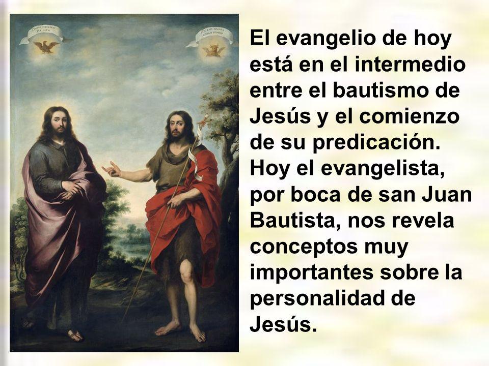El evangelio de hoy está en el intermedio entre el bautismo de Jesús y el comienzo de su predicación.