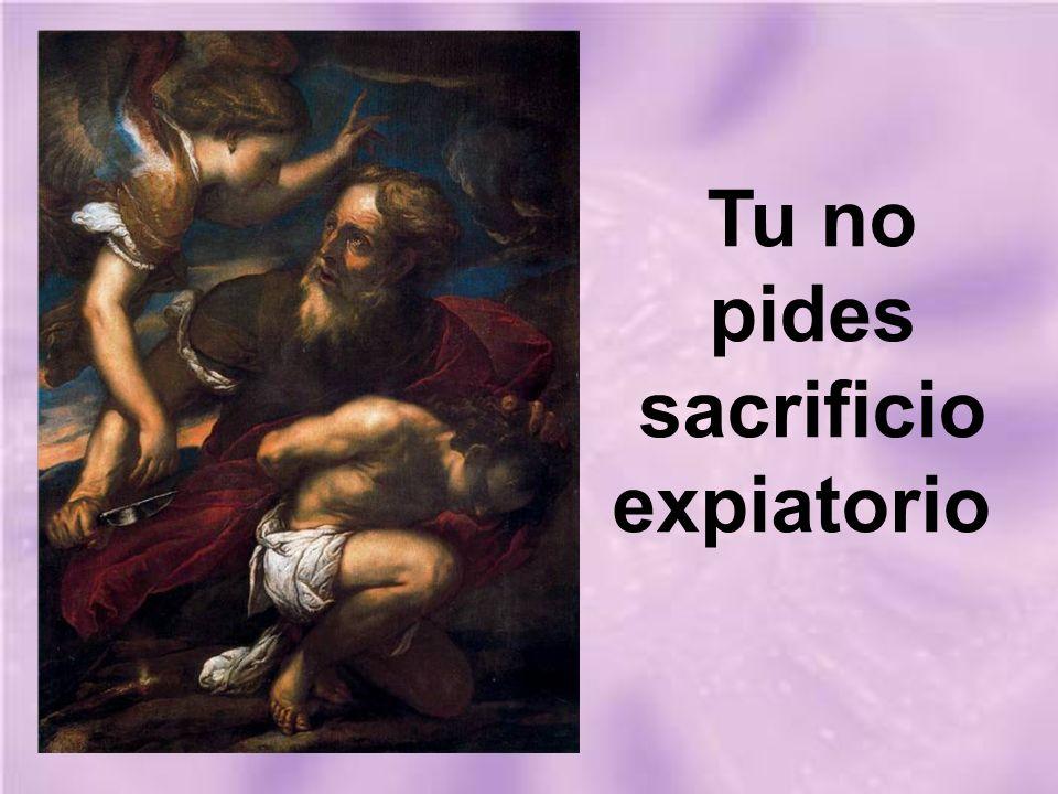 Tu no pides sacrificio expiatorio