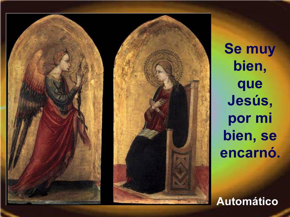 Se muy bien, que Jesús, por mi bien, se encarnó.