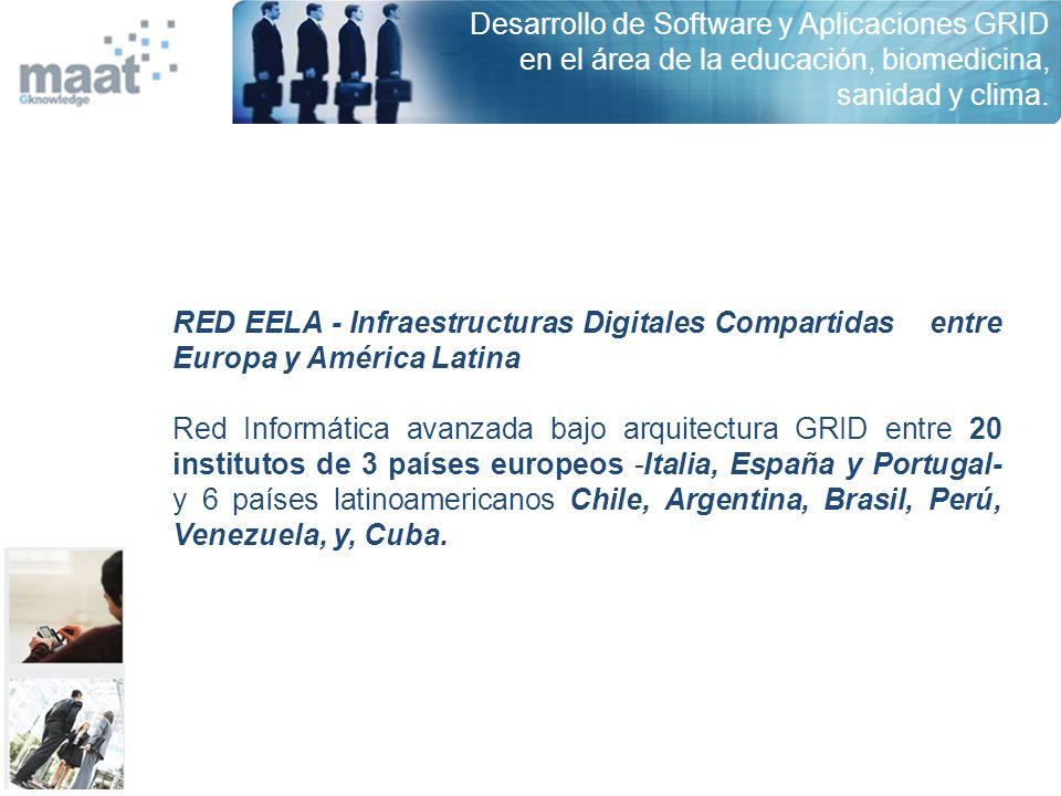Desarrollo de Software y Aplicaciones GRID en el área de la educación, biomedicina, sanidad y clima.