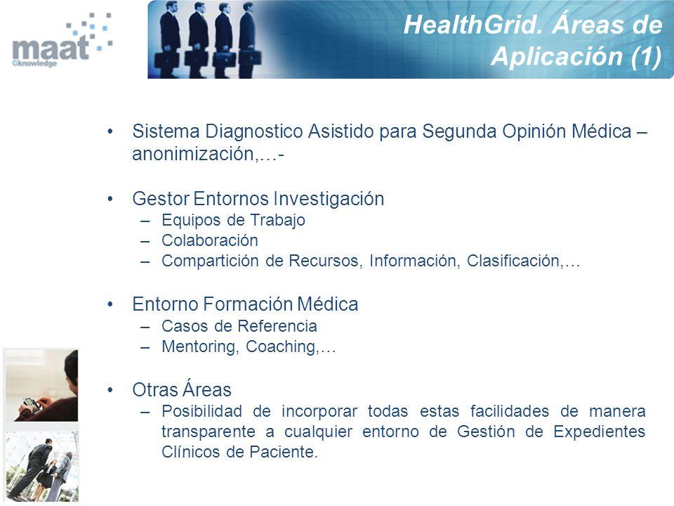 HealthGrid. Áreas de Aplicación (1)