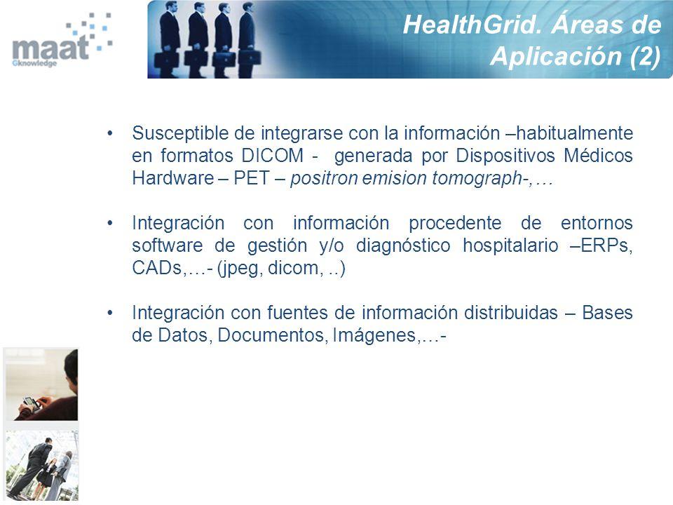 HealthGrid. Áreas de Aplicación (2)