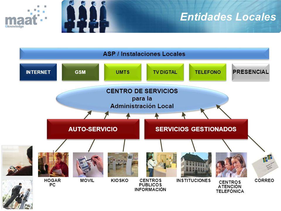 ASP / Instalaciones Locales SERVICIOS GESTIONADOS
