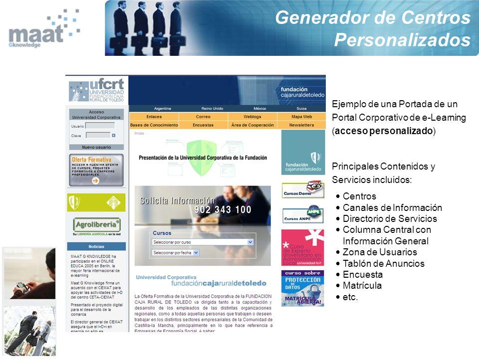 Generador de Centros Personalizados