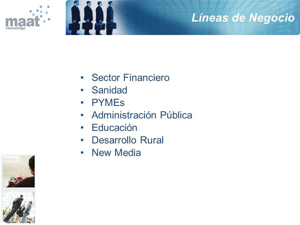 Líneas de Negocio Sector Financiero Sanidad PYMEs