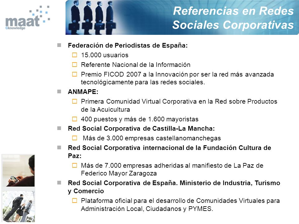 Referencias en Redes Sociales Corporativas