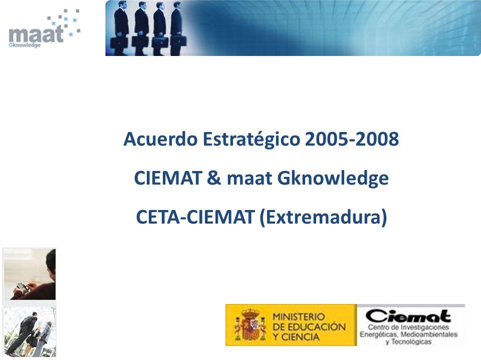 CIEMAT & maat Gknowledge CETA-CIEMAT (Extremadura)