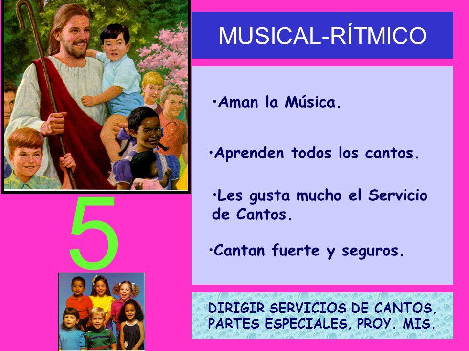 DIRIGIR SERVICIOS DE CANTOS, PARTES ESPECIALES, PROY. MIS.