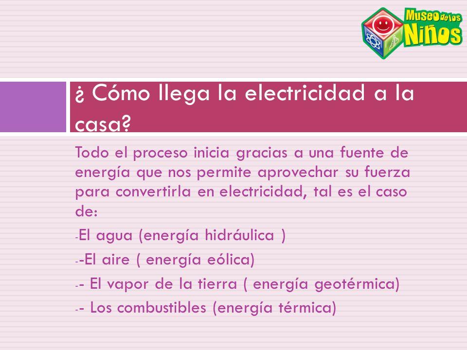 ¿ Cómo llega la electricidad a la casa