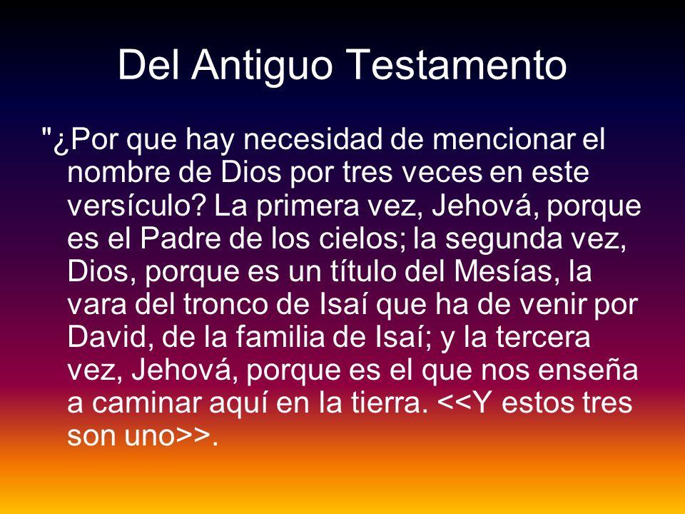 Del Antiguo Testamento
