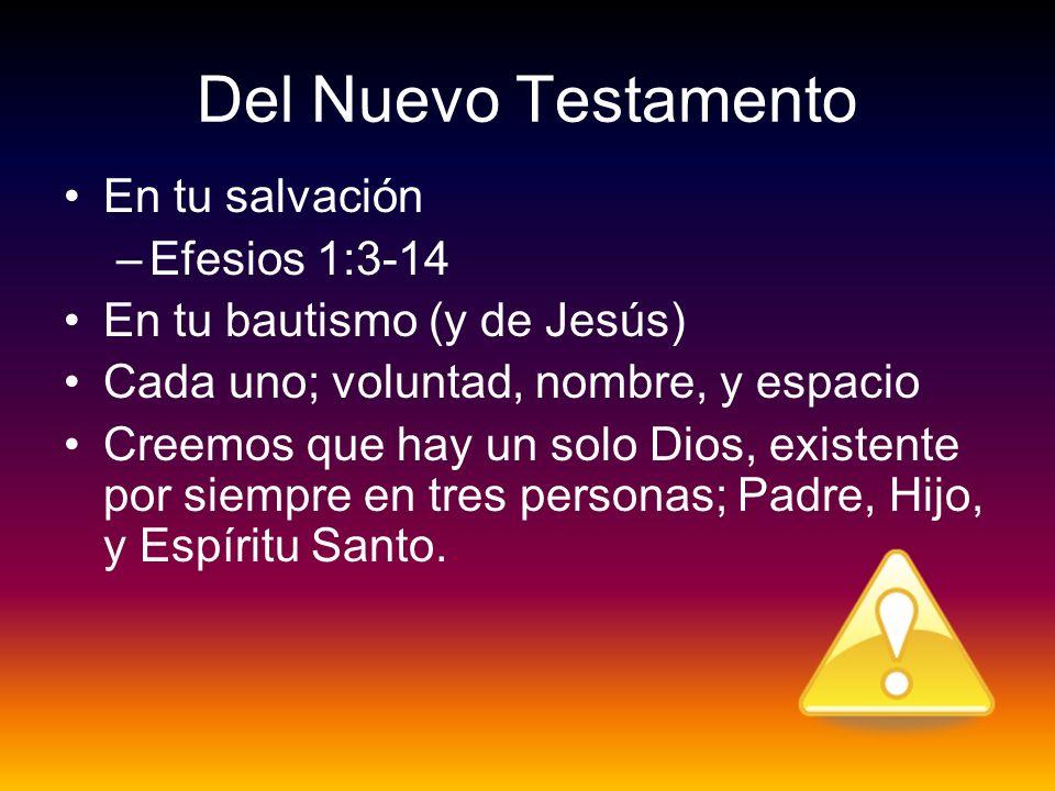 Del Nuevo Testamento En tu salvación Efesios 1:3-14