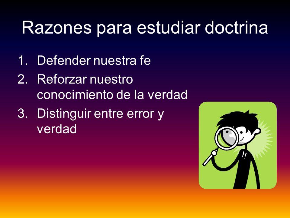 Razones para estudiar doctrina