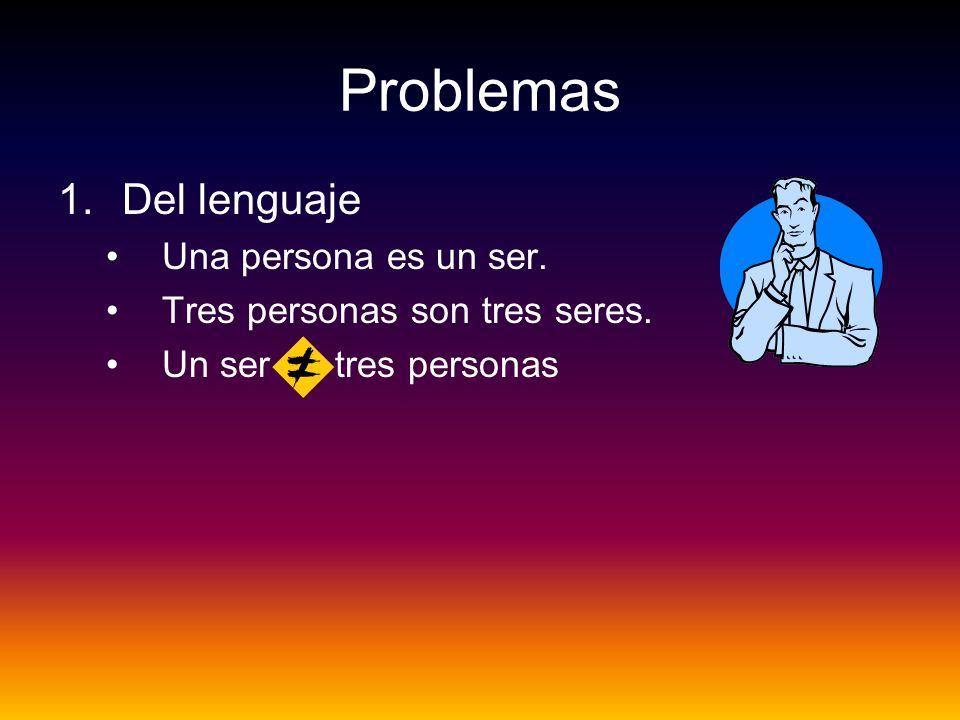 Problemas Del lenguaje Una persona es un ser.