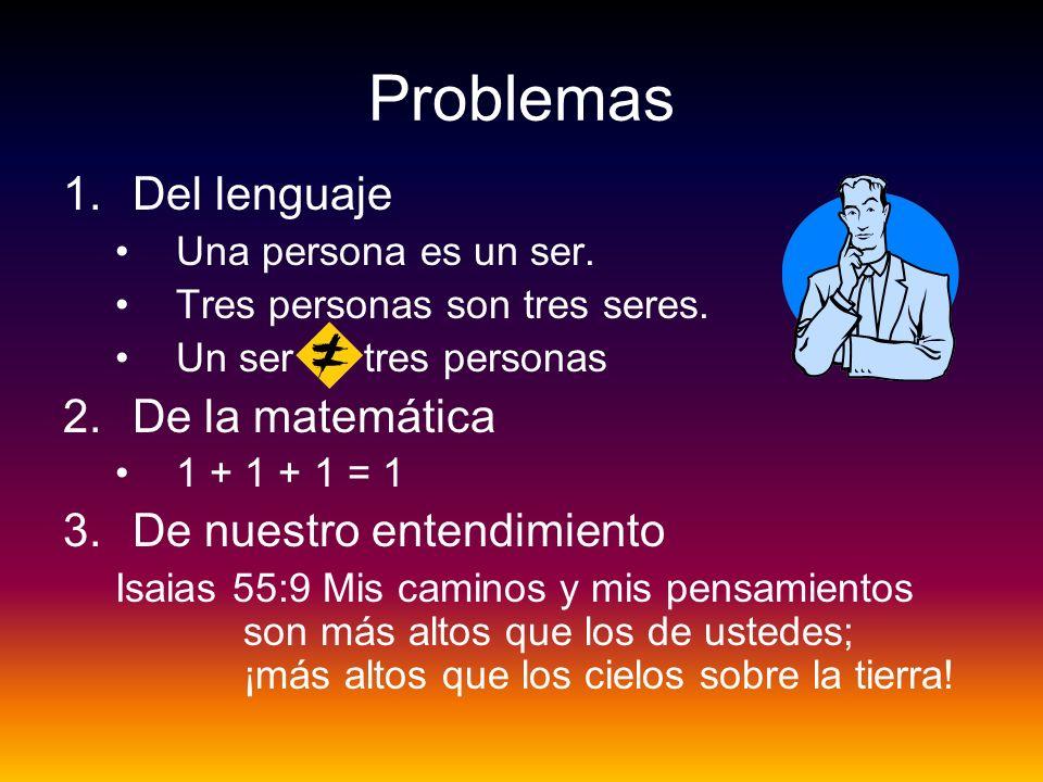 Problemas Del lenguaje De la matemática De nuestro entendimiento