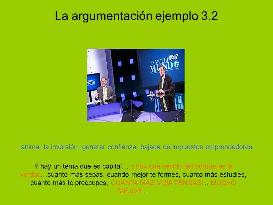 La argumentación ejemplo 3.2