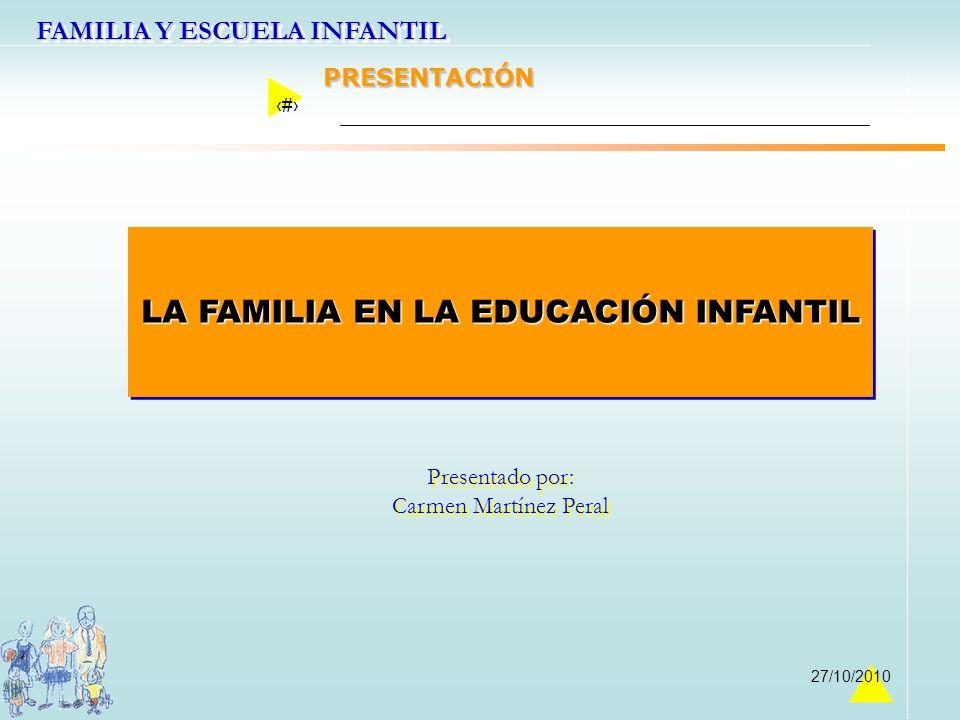 LA FAMILIA EN LA EDUCACIÓN INFANTIL