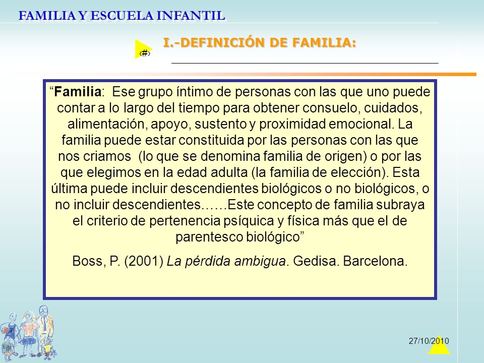 Boss, P. (2001) La pérdida ambigua. Gedisa. Barcelona.