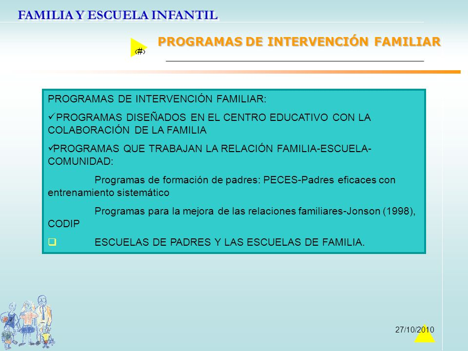 PROGRAMAS DE INTERVENCIÓN FAMILIAR