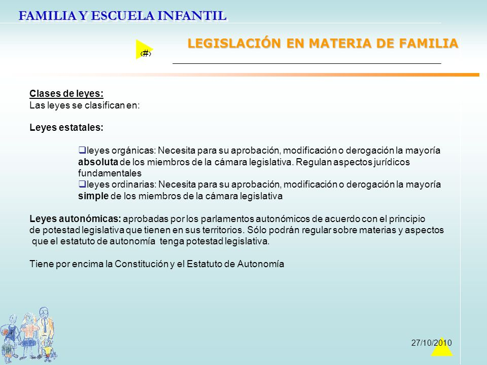 LEGISLACIÓN EN MATERIA DE FAMILIA