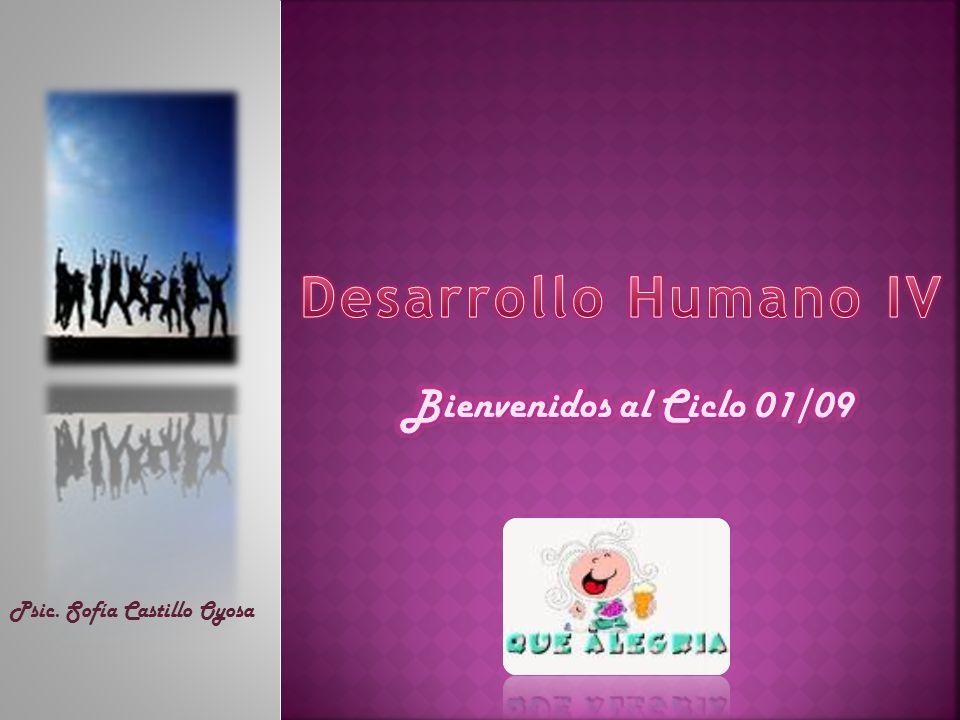 Desarrollo Humano IV Bienvenidos al Ciclo 01/09
