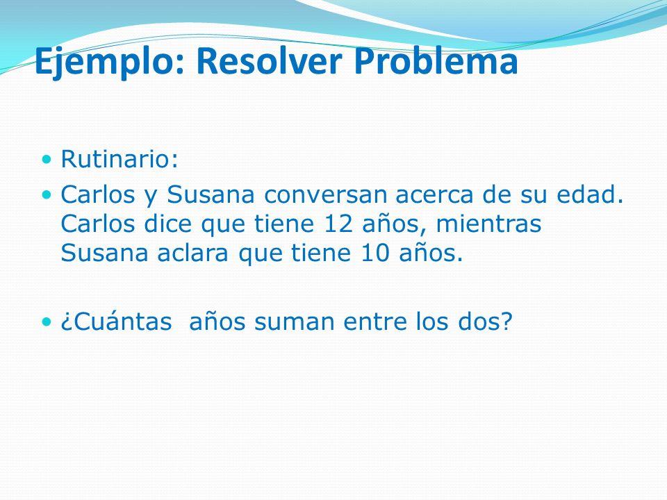Ejemplo: Resolver Problema
