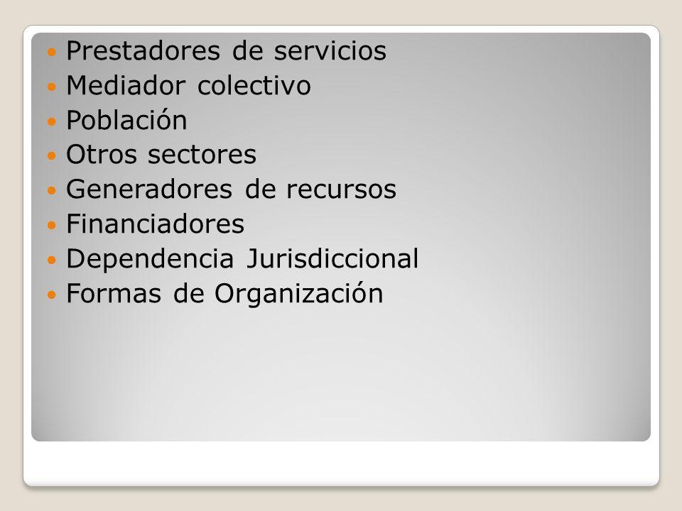 Prestadores de servicios