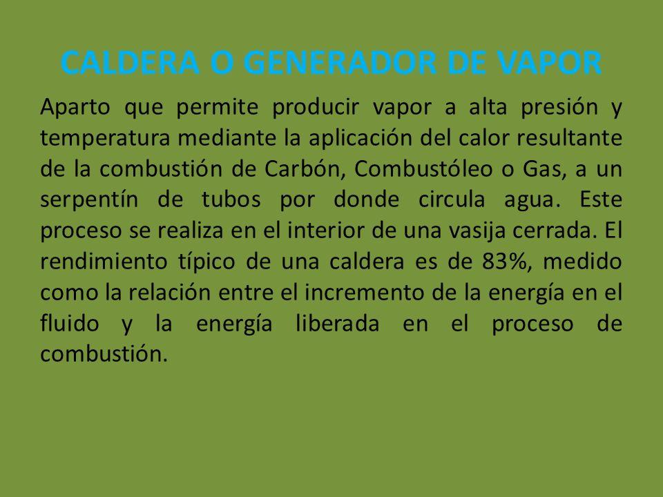 CALDERA O GENERADOR DE VAPOR