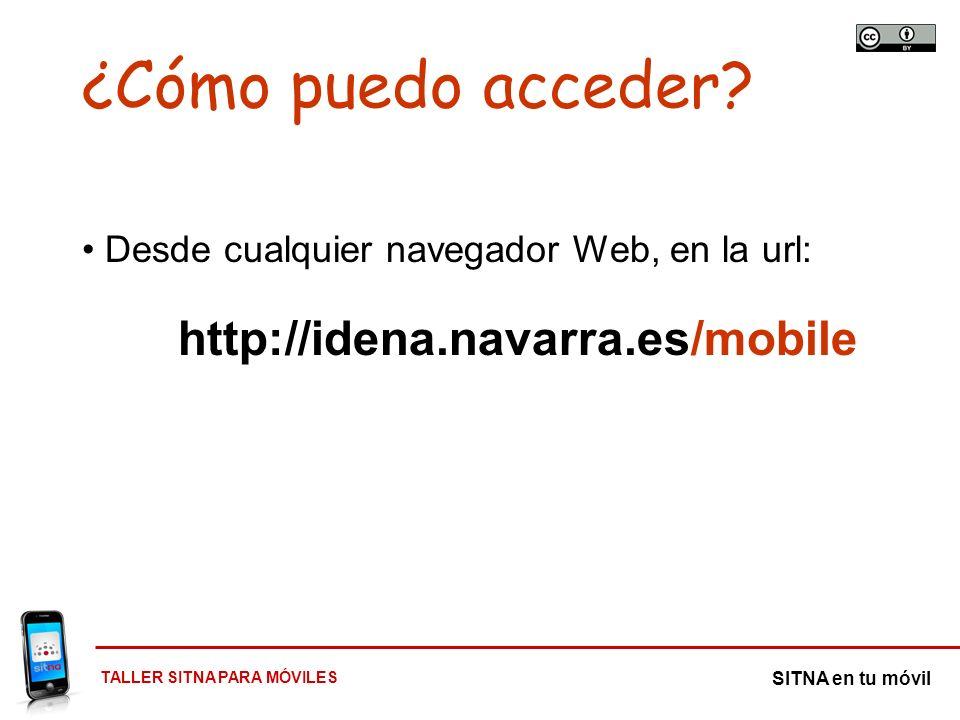 ¿Cómo puedo acceder http://idena.navarra.es/mobile