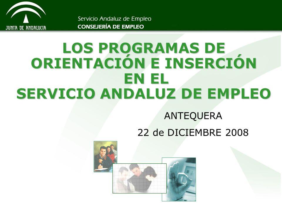 LOS PROGRAMAS DE ORIENTACIÓN E INSERCIÓN EN EL SERVICIO ANDALUZ DE EMPLEO