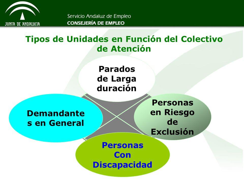 Tipos de Unidades en Función del Colectivo de Atención