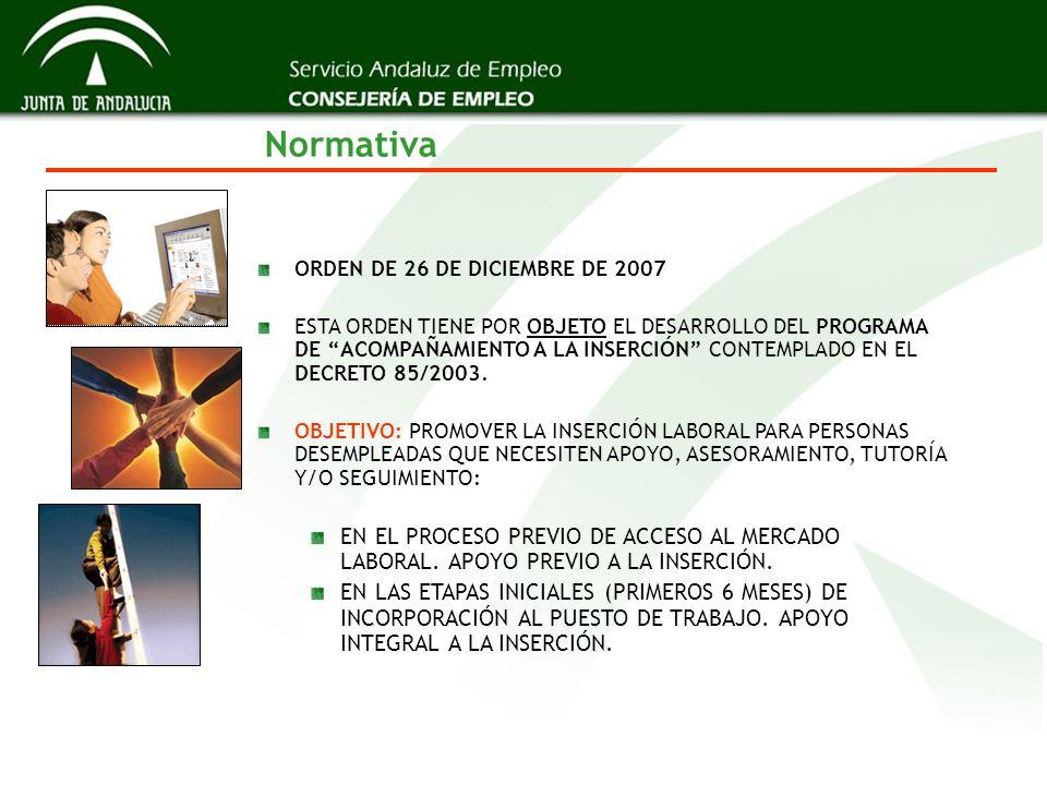 Normativa ORDEN DE 26 DE DICIEMBRE DE 2007.