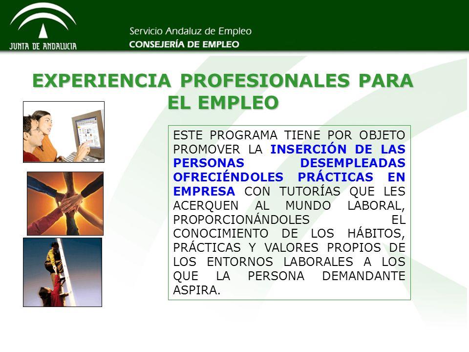 EXPERIENCIA PROFESIONALES PARA EL EMPLEO
