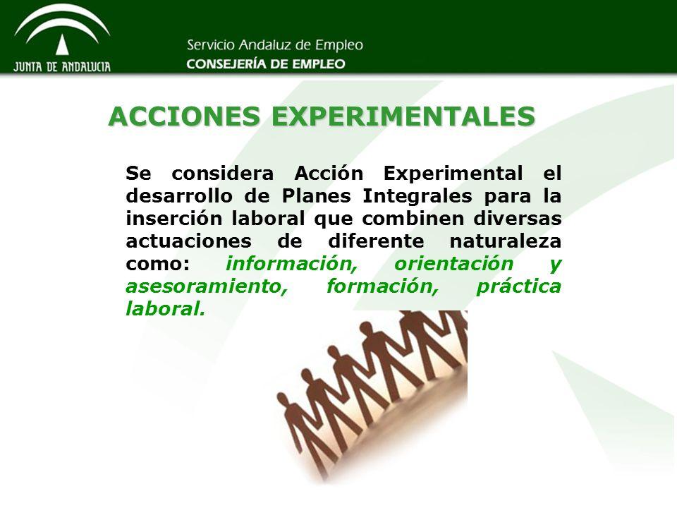 ACCIONES EXPERIMENTALES
